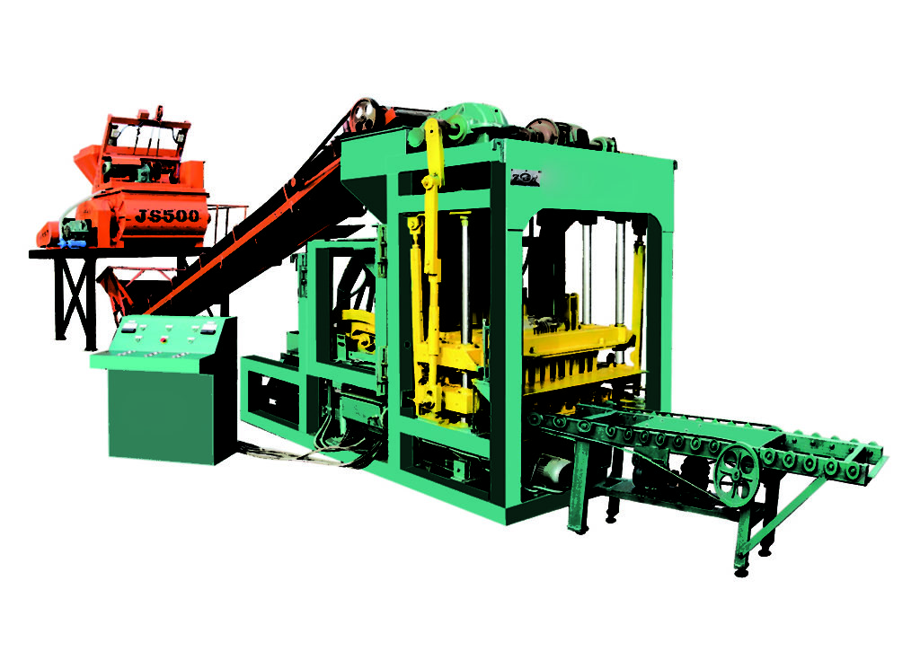 QTJ4-25 concrete brick machine